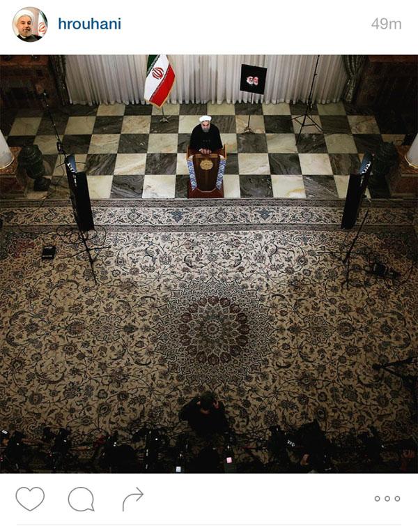 تصویر صفحه اینستاگرام رئیس جمهور
