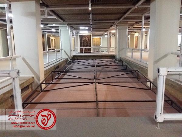 فضای داخلی تالار نمایش موزه فرش ایران
