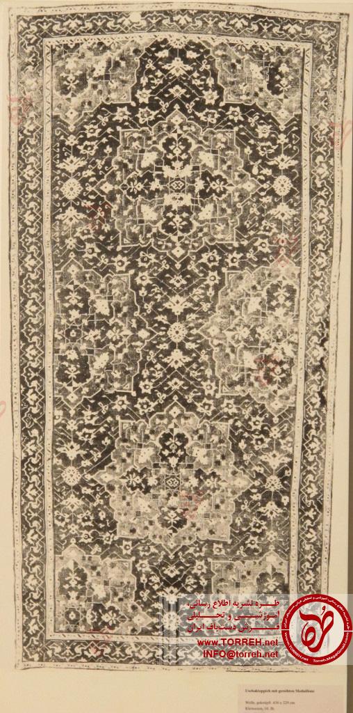 قالی اوشک، (229 در 436 سانتیمتر)، آسیای صغیر، سده شانزدهم، اهدایی فون بوده در سال 1905