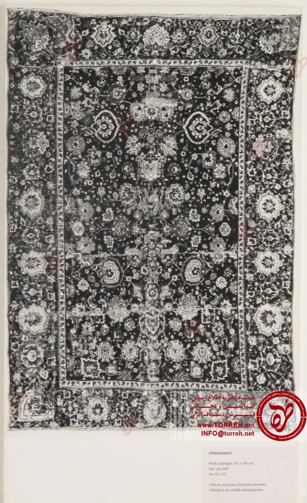مشهور به فرش اصفهان، (180 در 265 سانتیمتر)، شرق ایران (هرات؟)، حدود سال 1600، تهیه شده برای موزه در 1906