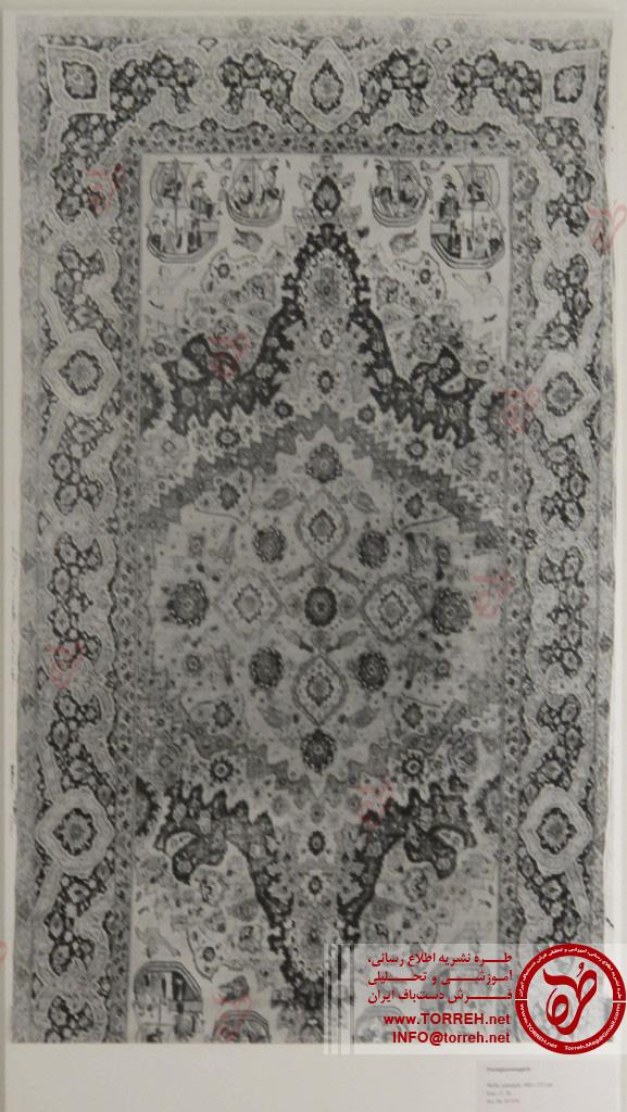 قالی پرتغالی، (252 در 500 سانتیمتر)، ایران، سده شانزدهم میلادی، به دست آمده در 1887 در پاریس