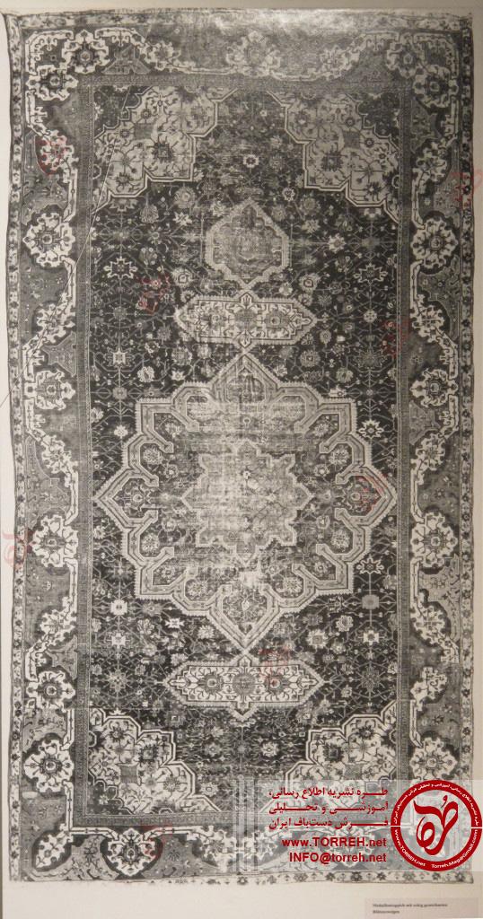شمال ایران، (265 در 490 سانتیمتر)، نیمه اول سده شانزدهم میلادی، در سال 1909 به موزه رسید.