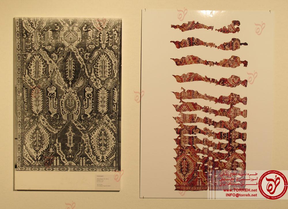فرش اژدها، (268 در 572 سانتیمتر)، قفقاز، بافت حدود سال 1600 که در 1881 به موزه برلین رسید.