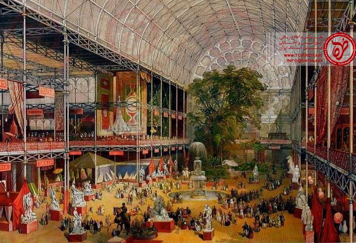 فرشهایی که برای ملکه ویکتوریا بافته شده بودند. نخستین نمایشگاه جهانی در لندن سال ۱۸۵۱