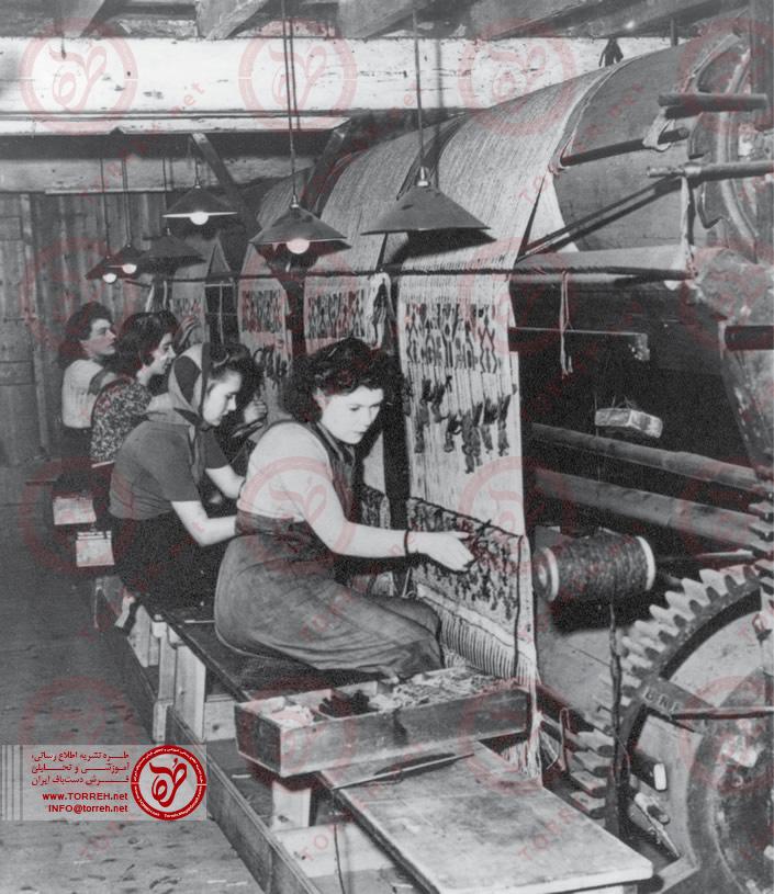 بافندگان فرش در سال 1957