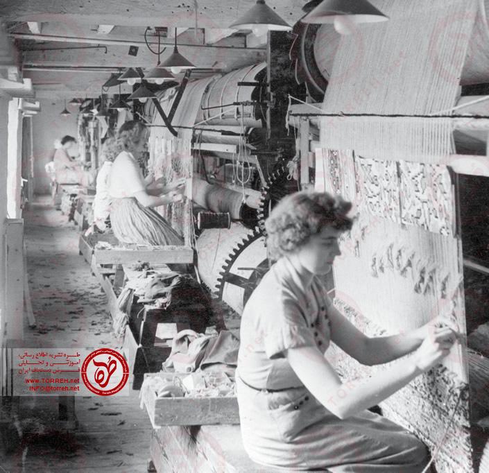 بافندگان فرش در سال 1958